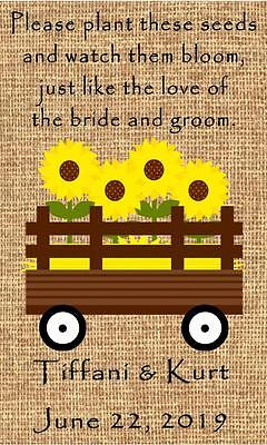 Wedding Wildflower Seed Packets Favors Farm Country Design Set of 100 (Wedding Favors Wildflower Seeds)