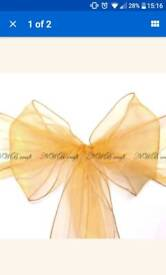 130 luxury gold chair sashes