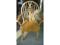 Wheelback carver chair made from beech