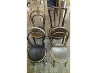 4 vintage cain chairs