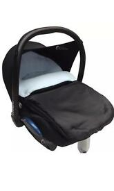 Footmuff for car seat blue