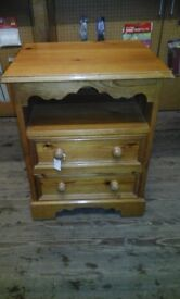 Pine unit with 2 drawers