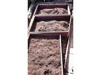 Solid hardwood raised veg / flower beds