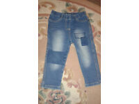 Girls jeans, 9-12 months