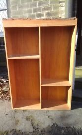 Wooden shelving units x4