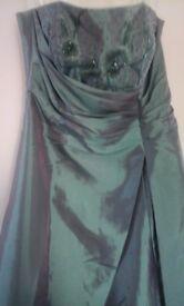 Prom dress size 10/12 aquamarine colour, excellent condition