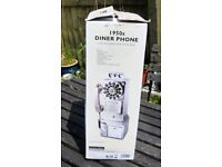 1950'S DINER PHONE WALL TELEPHONE BY WILD & WOLF NEW BOXED