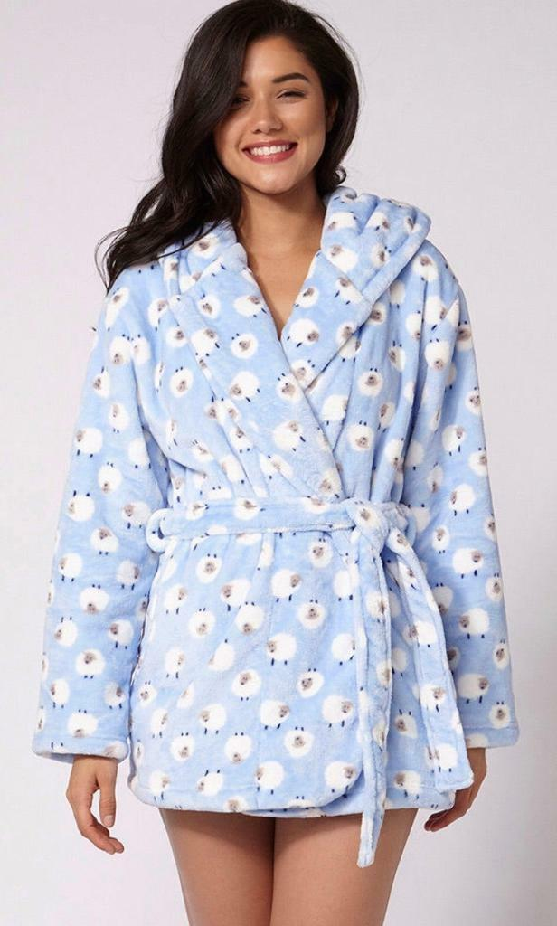 Boux Avenue Lamb Cropped Dressing Gown Robe In East Boldon Tyne