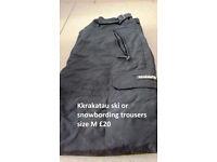 Kkrakatau ski or snowbording trousers black