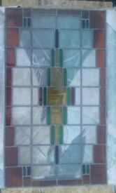 Leaded Coloured Glass Window