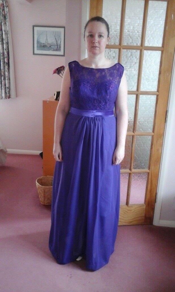 Bridesmaid Dress. Full length Cadbury Purple Size 8 | in Crowborough ...