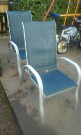 Two garden chairs feel free to contact me