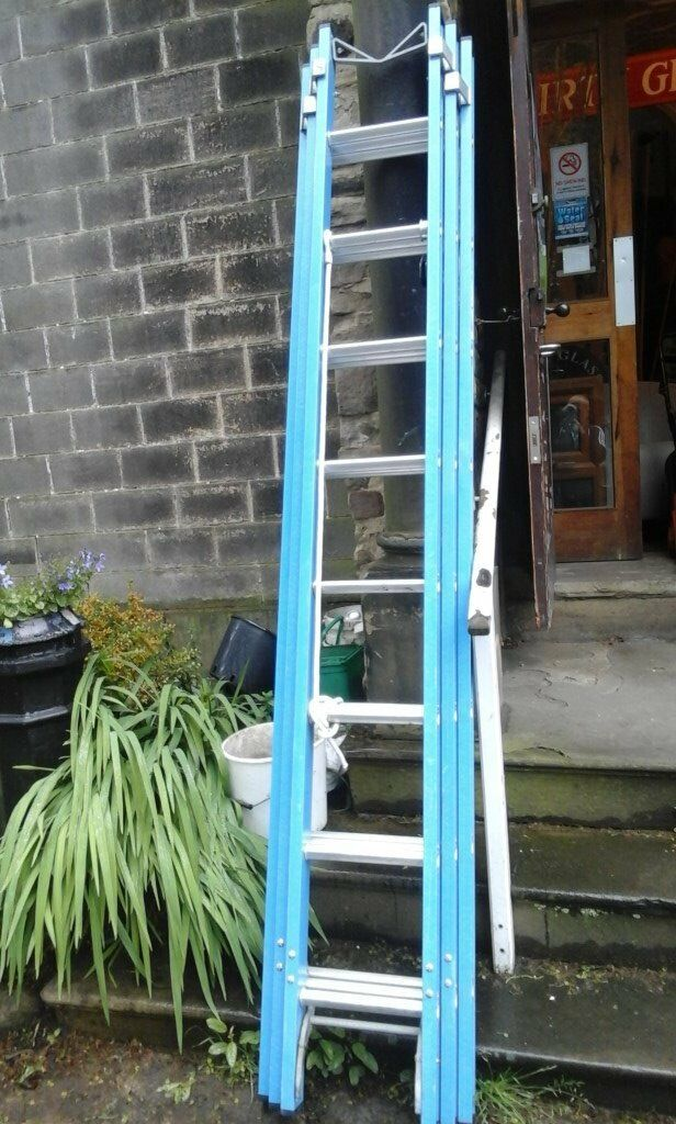 As new fibre glass ladders made by lyte