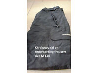 Kkrakatau ski or snowbording trousers