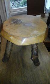Unusual hardwood stool