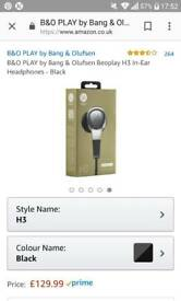 B&O earphones h3 brand new