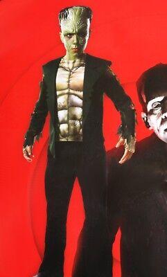 Frankenstein Mask For Kids (Boys Kids FRANKENSTEIN Monsterville Halloween Costume Mask Toddler 3T 4T Sm)