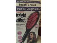 Electric hair straighter brush