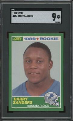 1989 Score #257 Barry Sanders RC Rookie Mint SGC 9