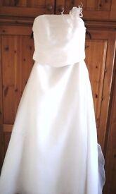 Ivory wedding 2 piece dress