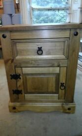 Small pine bedside table