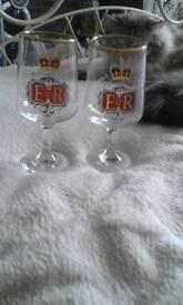 Pair of silver jubilee glasses