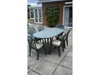 Garden Table/Chairs/Parasol