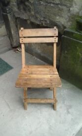 Vintage childs fold up chair