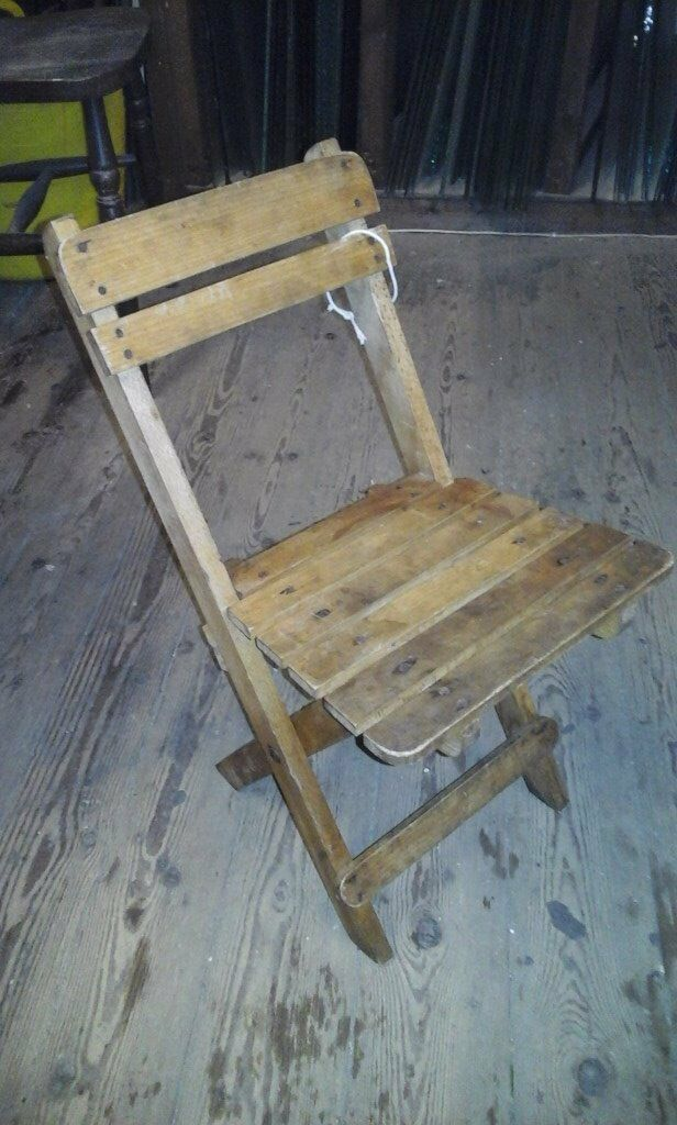 Childs Vintage Fold Up Chair