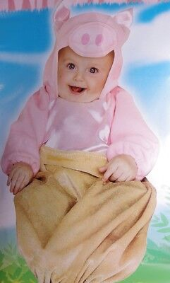 Baby Boys Animal PIG IN A BLANKET HAlloween Costume Bunting 3 6 9 MOnths SOW NEW - Pig In A Blanket Halloween