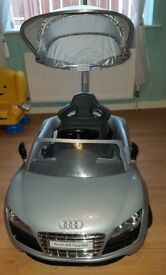 Kids silver audi hardly ever used