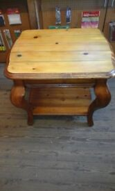 Pine coffee table unusual design
