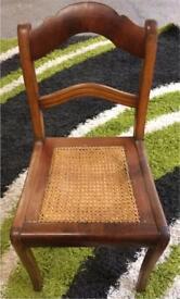 Vintage wicker seat chair