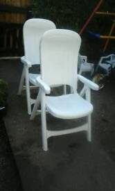Two recliner garden chairs feel free to contact me