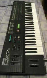 Yamaha DX7S FM synth.