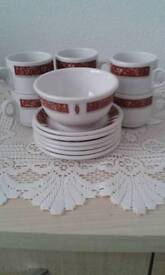 Royal doulton coffee set by steellite marina pattern