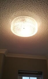 round light fitting with glass shade