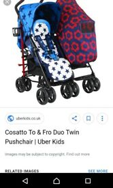 Cosatto to n Fro double pushchair