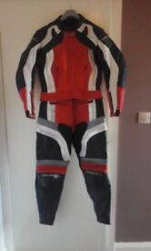 Ladies Frank Thomas Motorcycle Leathers 2 Piece Suit Size UK 14