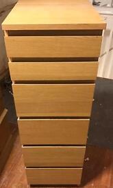 Wardrobe, bedside tables, drawer, desk
