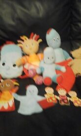 large collection of in the night garden toys