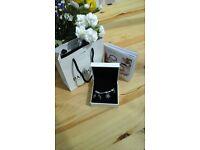 STUNNING genuine Pandora Bracelet with 4 gorgeous charms. Good as new with original box/bag/ribbon.