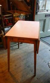 Retro 1950s Red Formica Drop Leaf Table