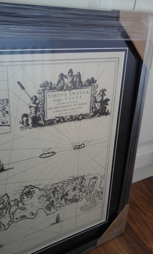 Bargain **Old map of Western Isles** - as new. Framed.