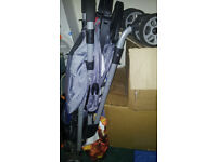 Cosatto double pram, baby high chair, Ikea cot bed