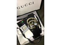 gold buckle gucci belt