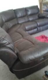 Harveys 5 piece faux leather sofa