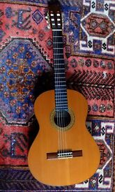 Cuenca Classical Spanish Guitar Model 50R in beautiful condition, with hard carrying case.