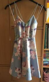 Grey Floral Size 8 Dress from New Look