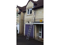 Aluminium 30 rung Extending Double Ladder with Stand-off
